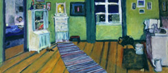 A vibrant collection: Interior scene by Gabriele Münter, 1910