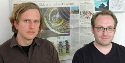 Bernd Stegmann and Björn Helbig, research assistant at the Future Institute; © Ute Zauft