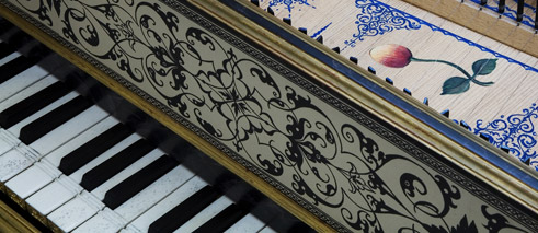 Musical instruments cembalo keyboard Harpsichord in the Flemish style Antwerpen 1618