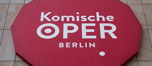 Logo of Komische Oper Berlin, Germany; Photo: © normanposselt.com