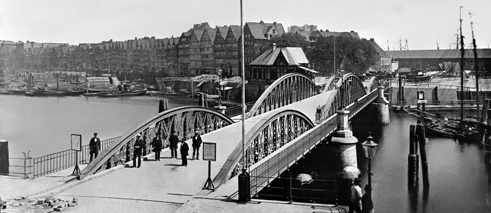 View of the Niederbaumbrücke, approx. 1880
