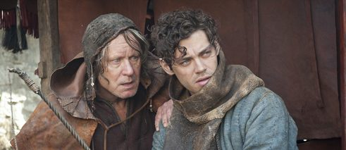 "Stellan Skarsgård (left) and Tom Payne in the historical adventure epic ""The Physician"""
