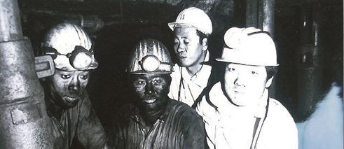 Korean miners in the mine Merkstein (Herzogenrath)