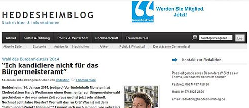 "Screenshot des ""Heddesheim Blog"""