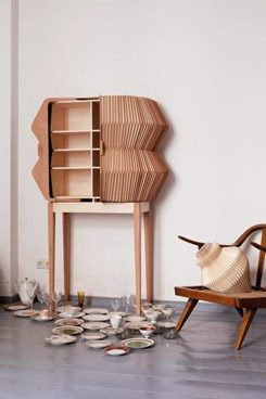 "Elisa Strozyk in collaboration with Sebastian Neeb ""Accordion Cabinet"""