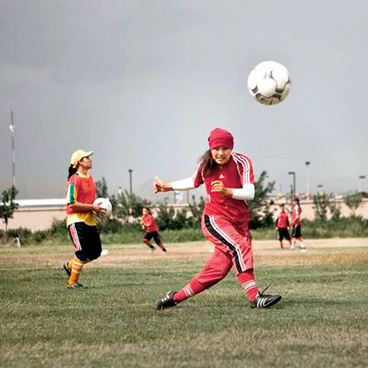 Football under Military Guard (Photo: Lela Ahmadzai) title=