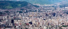 View of the city of Caracas