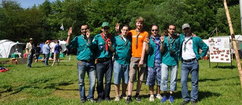 Muslim Scouts and partners from the German Scout Association of St. George;
