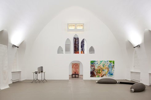 Galerie Patrick Ebensperger in former crematory, in Wedding, Berlin
