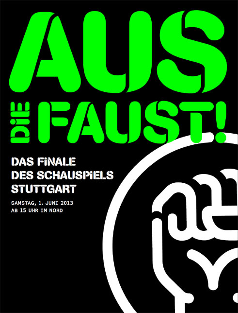 Poster marking the end of Hasko Weber's period as intendant at the Stuttgart Staatsschauspiel (2006-2013);