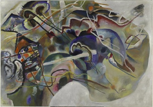 Kunstsammlung NRW K20 Wassily Kandinsky Painting with White Border, 1913 Oil on canvas 140.3 x 200,3 cm Solomon R. Guggenheim Museum, New York