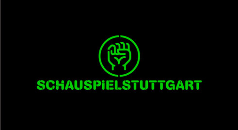 """Faust"" (in German both the name of the legendary and literary figure and the word for ""fist"") – logo of the intendant Hasko Weber at the Stuttgart Staatsschauspiel (2005-2013);"