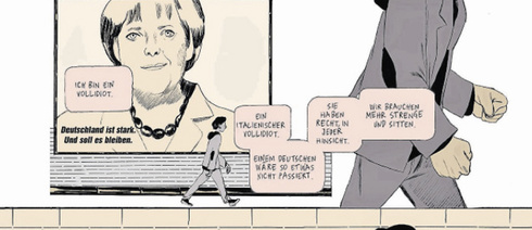An historic and political tour d'horizon: Excerpt from the comic strip by Manuele Fior