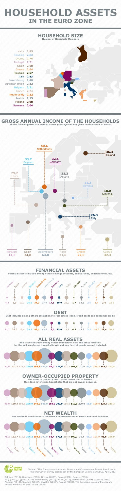 Household Assets in the Euro Zone