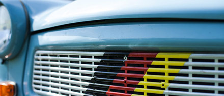Trabbi with Germanys national colours