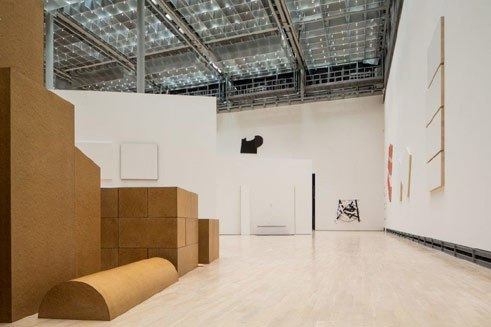 "View of the exhibition ""Imi Knoebel. Works 1966 – 2014"" at the Kunstmuseum Wolfsburg"