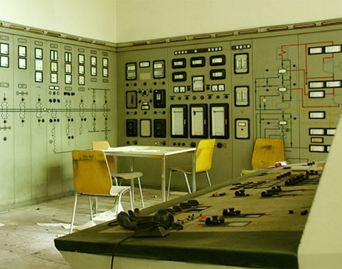 The control room of a power station in the Black Forest
