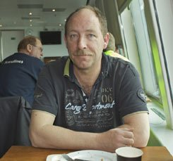Long-distance lorry driver Jan Lucas is one of the most frequent passengers on the ferry.