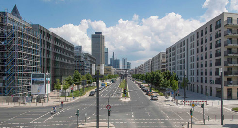 More and more cities are investing in new residential quarters – such as the Europaviertel in Frankfurt.
