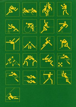 "Olympia 1972: ""Sporting Events Pictograms"", 1968 - 1972, Design: Otl Aicher"