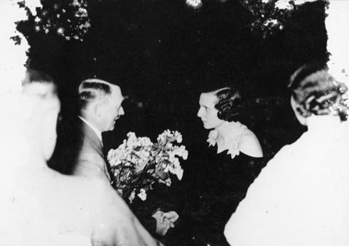 1934: Adolf Hitler welcomes Leni Riefenstahl