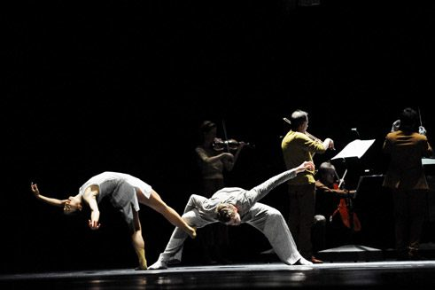 """Loops & Lines"" (2013) by Stephan Thoss and Ensemble Modern at the Staatstheater Wiesbaden;"