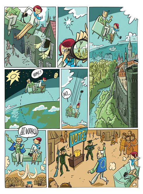 "Comic ""Le journal de Tallinn"""