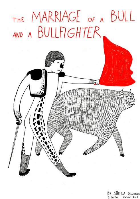 "Komiksas ""The Marriage of a Bull and a Bullfighter"""