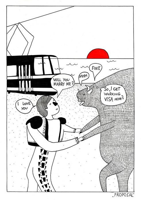 "Comic ""The Marriage of a Bull and a Bullfighter"""