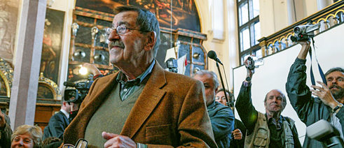 Disputatious voice: Günter Grass at an event at the Goethe-Institut in Gdansk