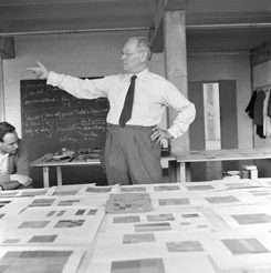 Johannes Itten giving lessons 1955
