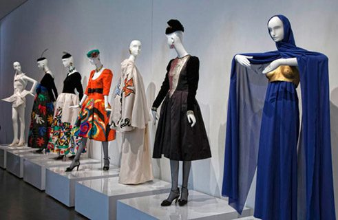"A Display of ""Le smoking"" – Female Tuxedos are displayed at a preview of Yves Saint Laurent – The Retrospective at the Denver Art Museum, March 25–July 8, 2012."