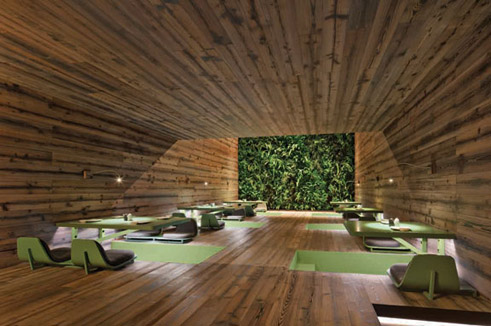 Modern mexican restaurant decor - Indoor Landscaping Using Nature In Architecture Goethe