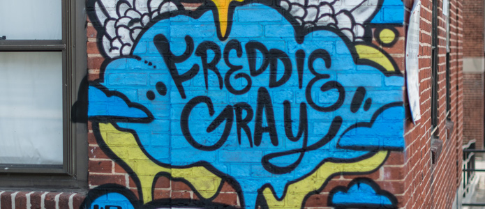 Gedenken in Baltimore: Ein Graffito erinnert an Freddie Gray
