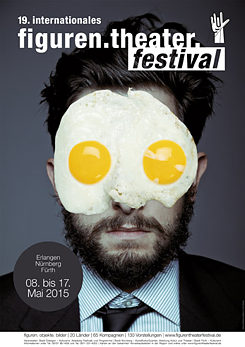 The poster of the 19th International Puppet Theatre Festival in Erlangen, Nuremberg and Fürth