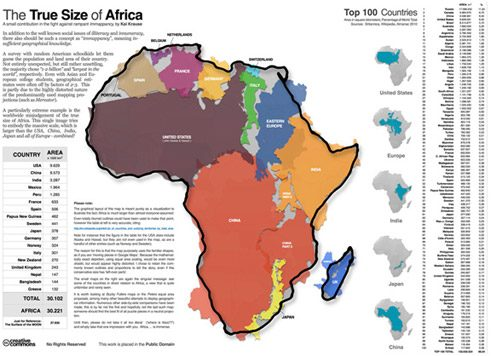 'The True Size of Africa', de Kai Krause