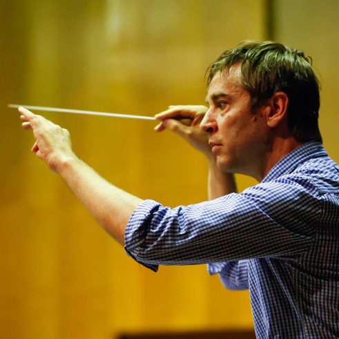 Conductor Stefan Geiger in Bucharest