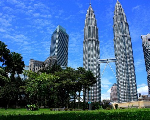 The Petronas Towers are among the world's tallest buildings