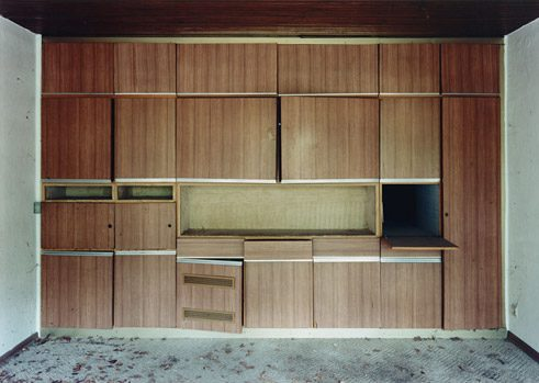 "Laurenz Berges captures signs of life in abandoned rooms and buildings, from the series ""Etzweiler"", 2000-2002"