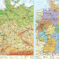 Map of Germany. Double sided poster