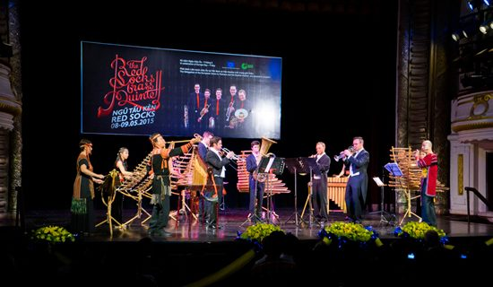 Concert of Red Socks Quartett with traditional Vietnamese music from Bamboo Ensemble