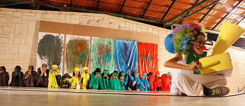 Syrian refugee children at a theatre workshop organized by Action for Hope (Photo: Goethe-Institut Lebanon)