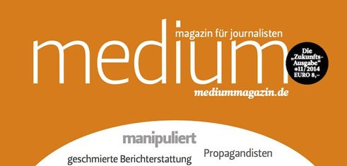 A Detail of the November 2014 cover of <i>Medium Magazin</i>