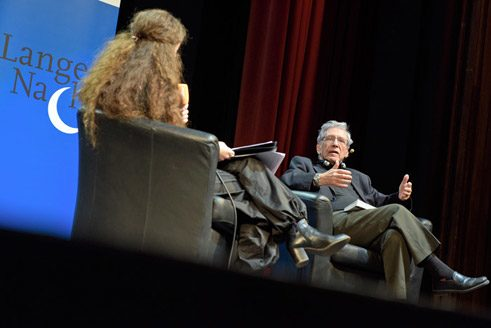 Amos Oz at the Leipzig Book Fair;