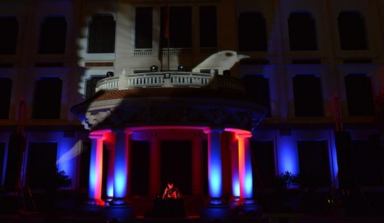 "Video projection/ light art with ""The Core"" at the Fine Arts Museum Hanoi"