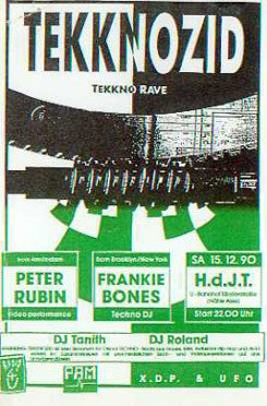 Tekknozid Party Flyer, Sommer 1990