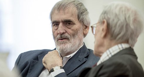 The composer Helmut Lachenmann