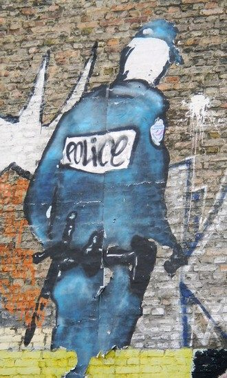 Ein Police Character Paste Up