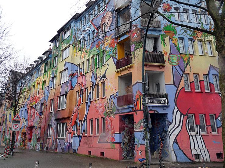 Graffitispaziergang Durch D Sseldorf Heimat Der Sprayer
