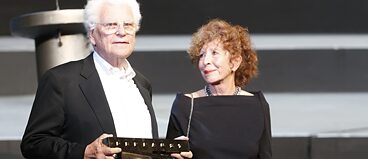 Tankred Dorst and Ursula Ehler at the awarding ceremony of the Faust Prize 2012;